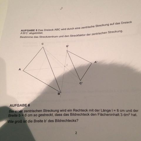 Mathematik - (Mathe, rechteck, zentrische Streckung)