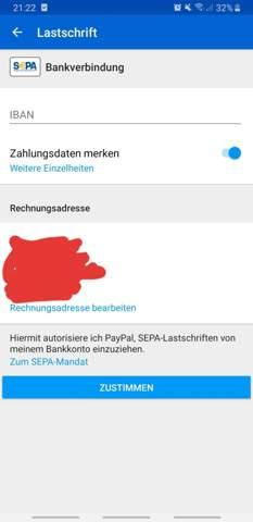 Iban Von Paypal