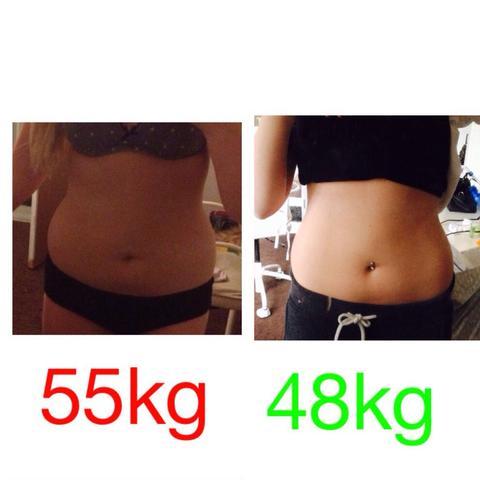 Links mein Startgewicht und rechts mein jetziges Gewicht. - (Sport, Ernährung, abnehmen)