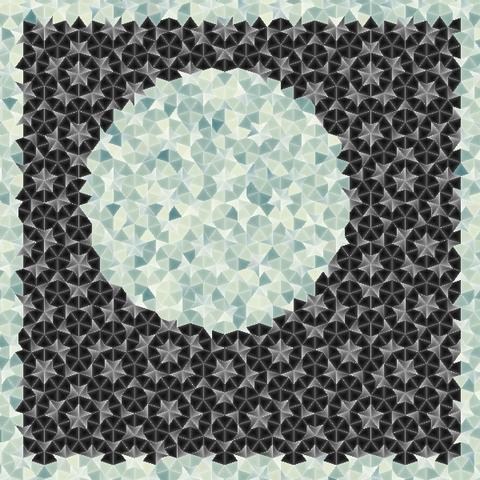 Zimmer tapezieren nach der Penrose-Parkettierung (Mathematik ...