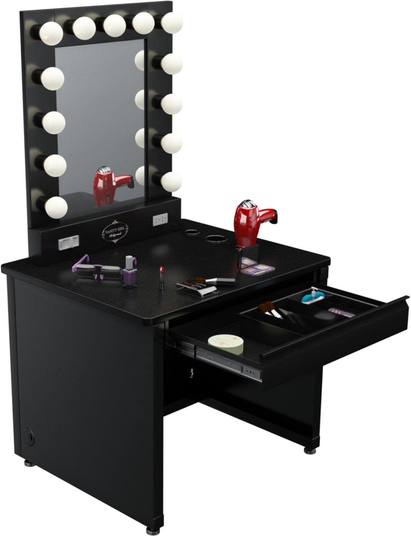 zimmergestaltung suche frisiertisch beauty schminken. Black Bedroom Furniture Sets. Home Design Ideas