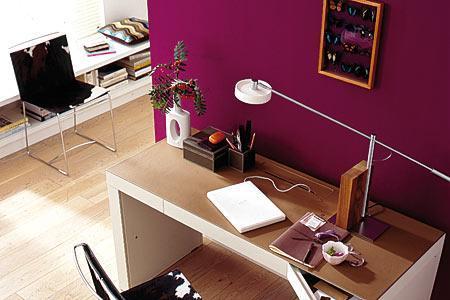 Beeren Farbe Für Eine Kleine Wand Und Farbliche Akzente   (Farbe, Wand,  Streichen