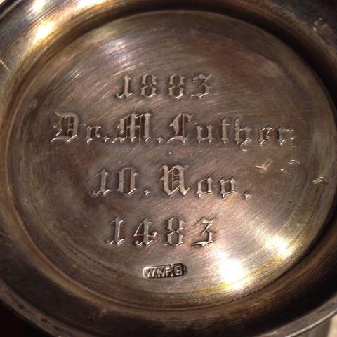 Unterseite  - (Antiquitäten, Martin Luther, Zinn)