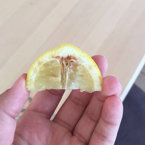 Noch essbar ?  - (essen, Zitrone, essbar)