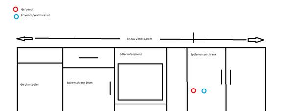 zu und ablaufschlauch von geschirrsp ler am herd vorbei. Black Bedroom Furniture Sets. Home Design Ideas
