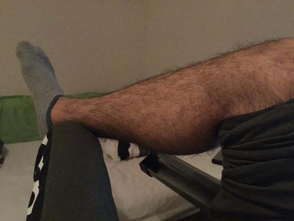 Arme rasieren mann