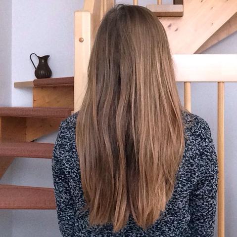 Haarfarbe braun mit blonden strähnen