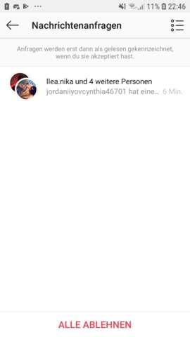 instagram zu gruppe hinzugefügt