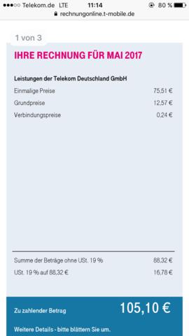 Zu Hohe Telekom Rechnung Tarife