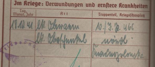 wehrpass  - (Sütterlin, Kriegsschauplatz 2 weltkrieg)