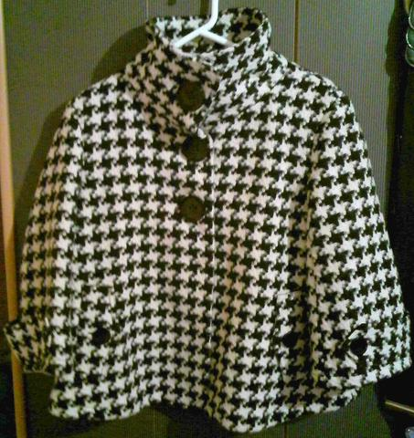schwarz-weiße Jacke (Montego) - (Styling, kombination)