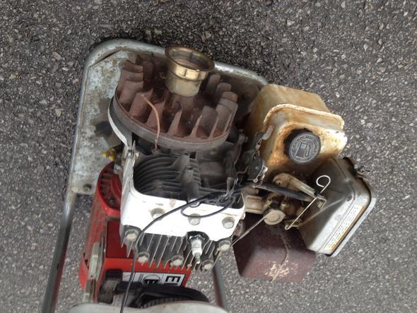 Motor des Aggregats - (verbrennungsmotor, Stromerzeugung, zuendspule)