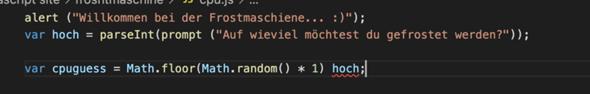 """Zufällige Zahl in Javascript mit """"Werten""""?"""