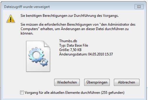 Fehlermeldung - (Windows 7, externe Festplatte, Zugriff)