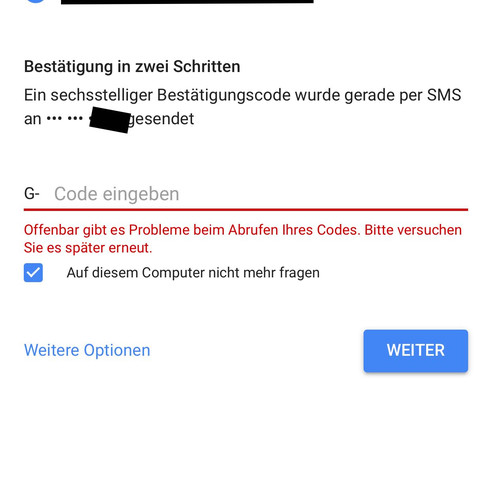 Zweifache Verifizierung bei Google: Nummer gesperrt, wie ...