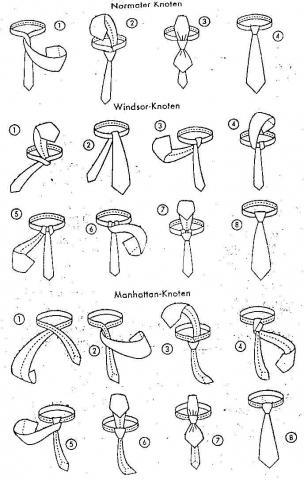 pin krawatten korrekt binden life coaching verlag on pinterest. Black Bedroom Furniture Sets. Home Design Ideas
